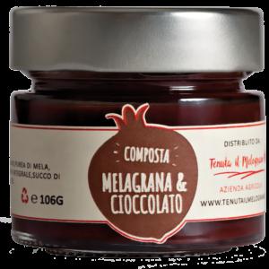 Composta melograno e cioccolato